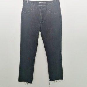 Levi's Mid Rise Skinny Raw Hem Ankle Jeans Size 12